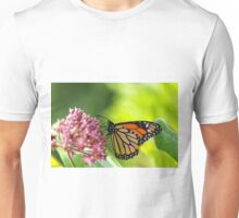 Monarch Butterfly on Milkweed Unisex T-Shirt