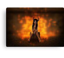 Fire Demoness Canvas Print