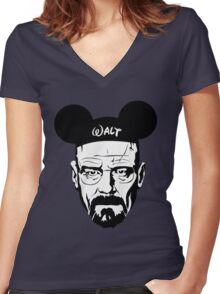 Walter Mouse Women's Fitted V-Neck T-Shirt