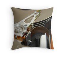 Computer Disc Drive Throw Pillow