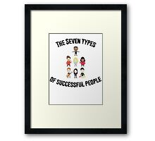 The Seven Types of Successful People Framed Print