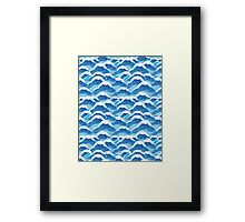 sea wave pattern Framed Print