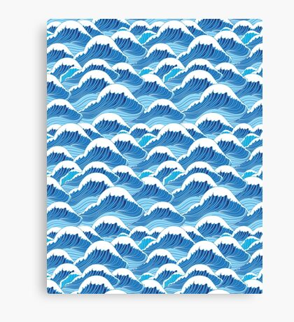 sea wave pattern Canvas Print