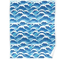 sea wave pattern Poster