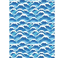 sea wave pattern Photographic Print