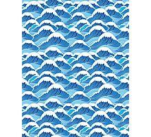 sea wave pattern Photographic Print