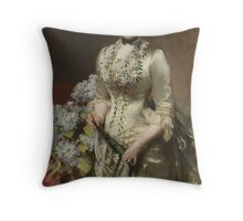 John Singer Sargent (1856–1925), Mrs. Jacob Wendel,1888. Oil on canvas. Throw Pillow