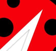 Comic ladybug Sticker