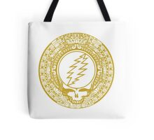 Mayan Calendar Steal Your Face - GOLD Tote Bag