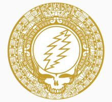 Mayan Calendar Steal Your Face - GOLD T-Shirt