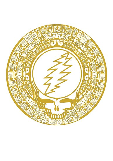Mayan Calendar Steal Your Face - GOLD by Jessica Bone