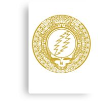 Mayan Calendar Steal Your Face - GOLD Canvas Print