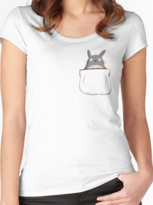 Totoro in Your Pocket Women's Fitted Scoop T-Shirt