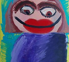 Self Portrait by Zoe Thomas aged 6 by Julia  Thomas