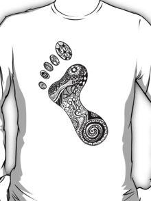 Psychedelic footprint  T-Shirt
