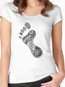 Psychedelic footprint  Women's Fitted Scoop T-Shirt
