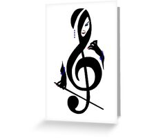 The Treble with Cello Girl Greeting Card