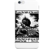 CITY ON A HILL iPhone Case/Skin