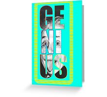 Colorful Genius Greeting Card