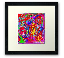 Graffiti Abstract Mod Pop Art Design Framed Print