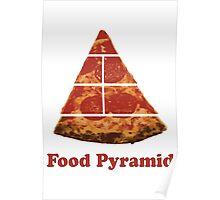 Food Pyramid Pizza Poster