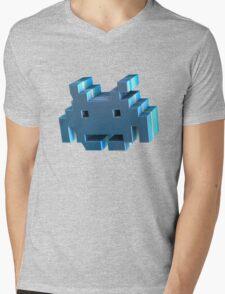 3d Space Invader. Mens V-Neck T-Shirt