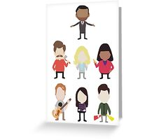 The Parks and Rec Crew - Big Greeting Card