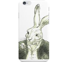 Rabbit and His Golden Watch iPhone Case/Skin