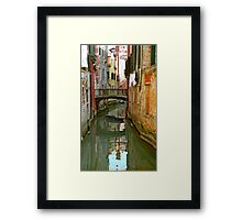 Little Boat on Canal in Venice Framed Print