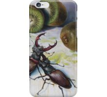 """ Kiwis and Stag Beetles ( Struggle for Constancy)"" iPhone Case/Skin"