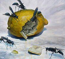 Lemon and Mud Daubers by Joe Helms