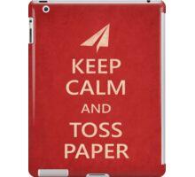 Keep Calm Paper Airplane 21b iPad Case/Skin