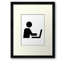Laptop notebook computer Framed Print