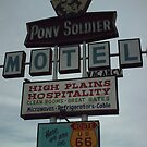 Original Motel Sign Tucumcari by Paul Butler