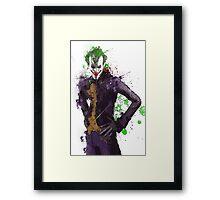 """""""The Joker"""" Splatter Art Framed Print"""