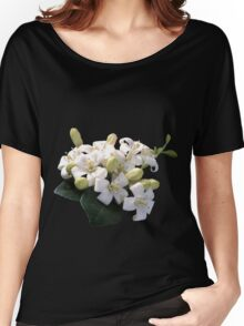 White Blossom Women's Relaxed Fit T-Shirt