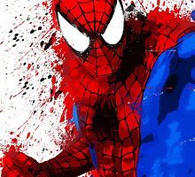 """Spider-Man"" Splatter ARt by KYCollectibles"