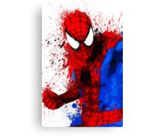 """""""Spider-Man"""" Splatter ARt Canvas Print"""