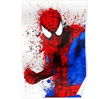 """Spider-Man"" Splatter ARt Poster"