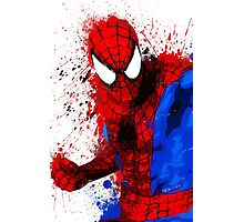"""Spider-Man"" Splatter ARt Photographic Print"