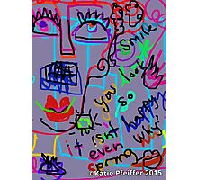 Grouchy Spring Doodle Photographic Print