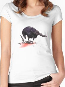 Crow, Bloody Snow 2 Women's Fitted Scoop T-Shirt