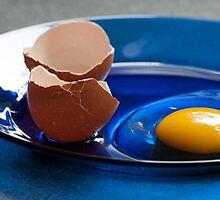 Egg on a plate by Greg Birkett