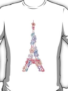 Flower Eiffel Tower Paris T-Shirt