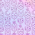 Pink Kitty Mystics by brettisagirl