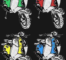 Lambretta 4xS2 on black by MartinSpayne