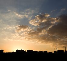 Sunset over Jerash by Karen Millard