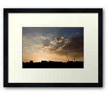 Sunset over Jerash Framed Print