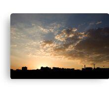 Sunset over Jerash Canvas Print