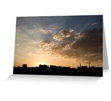 Sunset over Jerash Greeting Card
